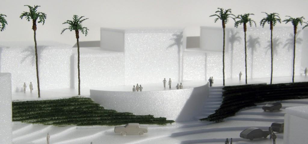 Miniature model of the Belvedere Promenade