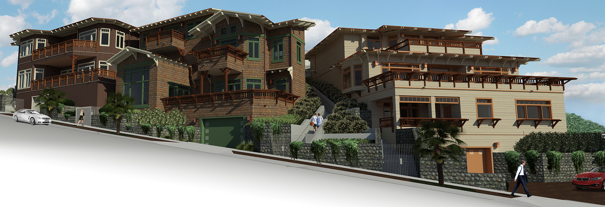 Green Dragon townhomes rendering