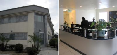 Exterior and interior photographs of Imperial Beach Health Clinic, Phase I