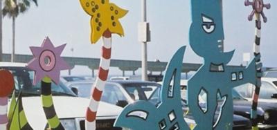 Photograph of the Ocean Beach Pier art installation