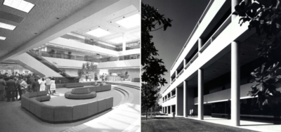 Black and white photographs of the Ventura County Government Center