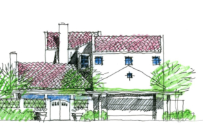 Rendering of a coastal residential building