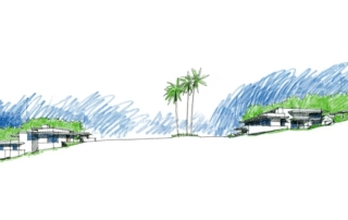 Site elevation rendering of La Jolla Shores master community